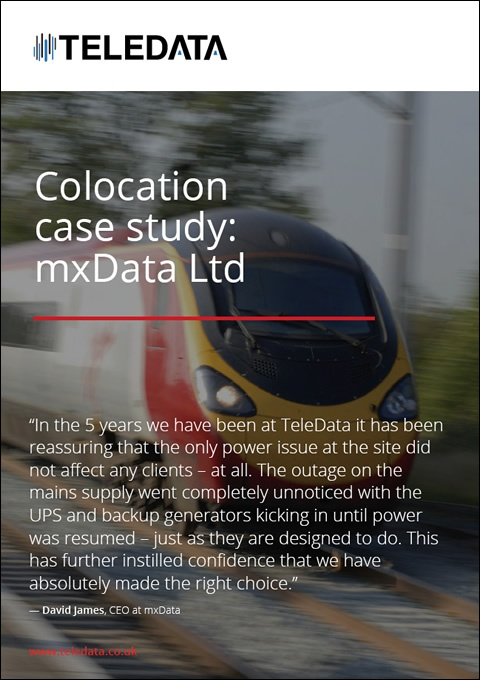 Colocation case study: mxData Ltd