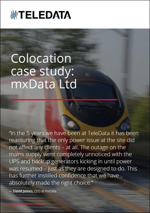 Colocation case study: mxData Ltd